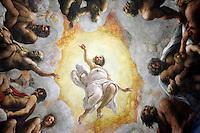 Affreschi di Correggio nella cupola della Abbazia di San Giovanni Evangelista a Parma.<br /> The dome frescoed by Correggio in the Abbey of San Giovanni Evangelista, Parma.<br /> UPDATE IMAGES PRESS/Riccardo De Luca