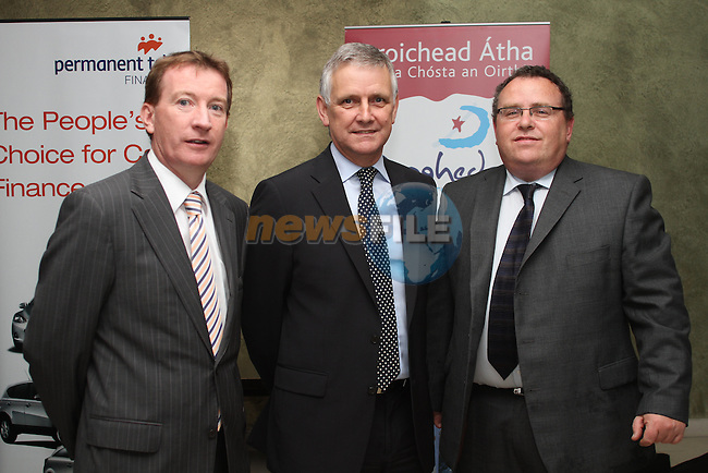 Gerry Hargadon, Permanent TSB Finance, Alan Nolan, SIMI and Simon McCormick from Western Motors at the Drogheda Motor Show Launch Night in the d Hotel...Picture Jenny Matthews/Newsfile.ie