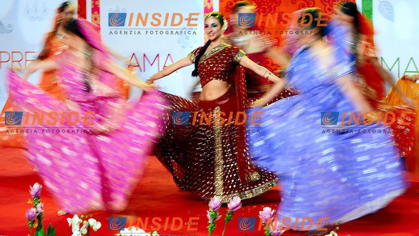 "Indian dancer during the European Premiere of the film ""Eat Pray Love"".Danzatrici indiane durante la Premiere.Roma 16/9/2010 Cinema Moderno.""Mangia Prega Ama "" - ""Eat Pray Love"" European Premiere.Foto Andrea Staccioli Insidefoto"