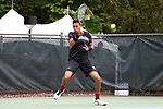 CHAPEL HILL, NC - MAY 13: South Carolina's Paul Jubb (ENG). The University of North Carolina Tar Heels hosted the University of South Carolina Gamecocks on May 13, 2017, at The Cone-Kenfield Tennis Center in Chapel Hill, NC in an NCAA Division I Men's College Tennis Tournament second round match. UNC won 4-1.