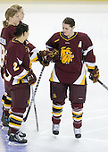 Laura Fridfinnson (Minnesota-Duluth - 19), Saara Tuominen (Minnesota-Duluth - 23), Jaime Rasmussen (Minnesota-Duluth - 88) - The University of Minnesota-Duluth Bulldogs defeated the Boston College Eagles 3-0 on Friday, November 27, 2009, at Conte Forum in Chestnut Hill, Massachusetts.