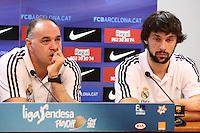 5.06.2012 Barcelona. Rueda de prensa de presentacion playoff final liga ACB. Sergio Llull y Pablo Laso