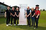 Sam McNulty (Twin Atlantic), Ally McCoist, Ben Johnston (Biffy Clyro), Jorg Albertz, James Johnston (Biffy Clyro) and Donald MacLeod (chairman of Nordof Robbins) at charity golf day at Mearns Castle golf academy