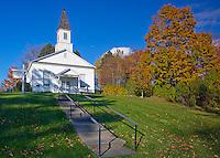 Leelanau County, MI  <br /> Omena Presbyterian Church in fall (built in 1858)