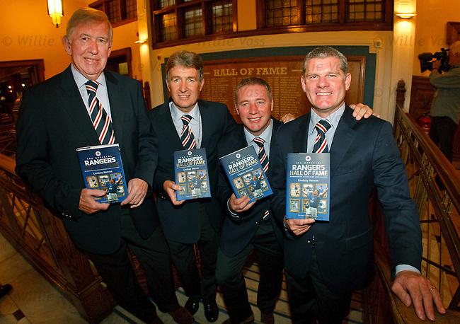 Sandy Jardine, John Greig, Ally McCoist and Ian Durrant launch Rangers Hall of Fame book