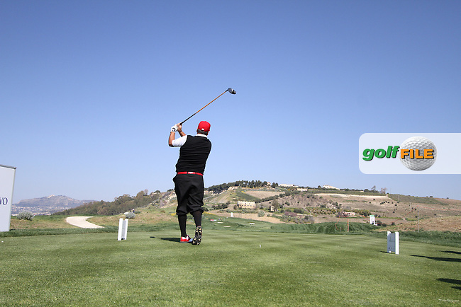 Joel Sjoholm (SWE) on the 17th tee on the 1st Day of the 2012 Sicilian Open at Verdura Golf and Spa Resort...(Photo Jenny Matthews/www.golffile.ie)
