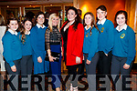 Martha Gacek, Molly O'Keeffe Mairead Kearney, Stacey O'Leary, Karen O'Carroll, Niamh Ryle, Michael Moynihan and Isabelle Crowe, pictured at the Dunnes Stores and Paul Galvin Shelby Autumn Winter Fashion Show, held at the Brandon Hotel, Tralee on Friday night last.