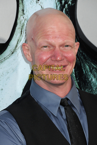 "Derek Mears.""Final Destination 5"" Los Angeles Special Screening held at Grauman's Chinese Theatre, Hollywood, California, USA..August 10th, 2011.headshot portrait black blue.CAP/ADM/BP.©Byron Purvis/AdMedia/Capital Pictures."