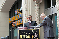 LOS ANGELES - MAY 7:  Steve Carell, Alan Arkin at the Alan Arkin Star Ceremony on the Hollywood Walk of Fame on May 7, 2019 in Los Angeles, CA