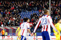 Atletico de Madrid suporters during La Liga match between Atletico de Madrid and Villarreal at Vicente Calderon stadium in Madrid, Spain. December 14, 2014. (ALTERPHOTOS/Caro Marin) /NortePhoto