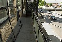 La scene du crime de Luka MAGNOTTA, mai 2012<br /> <br /> PHOTO :  Robert Galbraith - Agence Quebec Presse