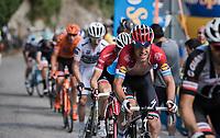 Bob Jungels (LUX/Quick-Step Floors) up the Foza climb (1086m)<br /> <br /> Stage 20: Pordenone › Asiago (190km)<br /> 100th Giro d'Italia 2017