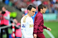 Pictured: Leon Britton.<br /> Saturday 04 May 2013<br /> Re: Barclay's Premier League, Swansea City FC v Manchester City at the Liberty Stadium, south Wales.