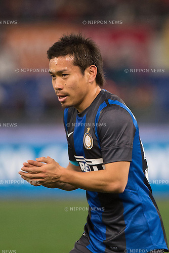 "Yuto Nagatomo (Inter), JANUARY 20, 2013 - Football / Soccer : Italian ""Serie A"" match between AS Roma 1-1 Inter Milan at Stadio Olimpico in Rome, Italy, (Photo by Enrico Calderoni/AFLO SPORT)"