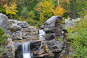 Grafton Notch State Park - Screw Auger Falls during the autumn months in  Newry, Maine USA