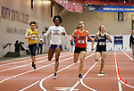 NAPERVILLE, IL - MARCH 11: Wadeline Jonathan of UMASS Boston wins her heat in the 400 meter dash at the Division III Men's and Women's Indoor Track and Field Championship held at the Res/Rec Center on the North Central College campus on March 11, 2017 in Naperville, Illinois. (Photo by Steve Woltmann/NCAA Photos via Getty Images)