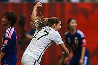 VANCOUVER, CANADÁ, 05.07.2015 - EUA-JAPÃO - Tobin Heath dos Estados Unidos durante partida contra o Japão jogo válido pela final da Copa do Mundo de Futebol Feminino no Estádio BC Place em Vancouver  no Canadá neste domingo, 05. (Foto: William Volcov/Brazil Photo Press)