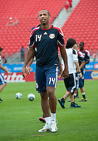 21 August 2010: New York Red Bulls forward Thierry Henry #14 warms up during a game between the New York Red Bulls and Toronto FC at BMO Field in Toronto..The New York Red Bulls won 4-1.