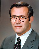 Head shot of United States Secretary of Defense Donald H. Rumsfeld taken on December 16, 1975.<br /> Mandatory Credit: Oscar Porter / DoD via CNP
