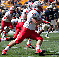 New Mexico nose tackle Nick D'Avanzo (91). The Pitt Panthers defeated the New Mexico Lobos 49-27 on Saturday, September 14, 2013 at Heinz Field, Pittsburgh, Pennsylvania.