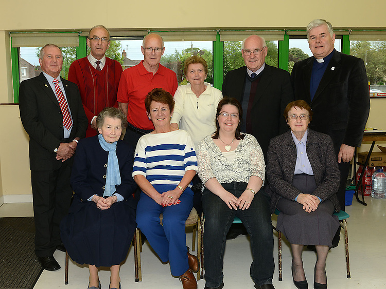 Committee members Pat Devlin, John Sweeney, Tom Melia, Mary Hand, Nicholas McQuillan, , Fr Murphy, Sr. Anne, Anne McCoy, Sinead Cowley and Sr. Dolores pictured at The Gathering in Ardee parish centre. Photo:Colin Bell/pressphotos.ie
