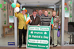 Frank Godfrey, Anthony Lynch, Chairman and Liam Reilly of the St.Patricks Day Committee with Tony and Honor Byrne outside their Information Shop in The Town Centre...(Photo credit should read Jenny Matthews/www.newsfile.ie)....This Picture has been sent you under the conditions enclosed by:.Newsfile Ltd..The Studio,.Millmount Abbey,.Drogheda,.Co Meath..Ireland..Tel: +353(0)41-9871240.Fax: +353(0)41-9871260.GSM: +353(0)86-2500958.email: pictures@newsfile.ie.www.newsfile.ie.