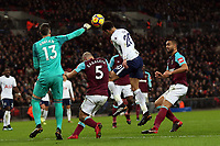 Adrian of West Ham United and Dele Alli of Tottenham during Tottenham Hotspur vs West Ham United, Premier League Football at Wembley Stadium on 4th January 2018