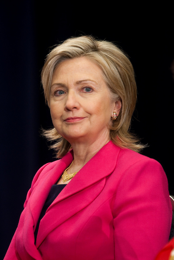 Secretary of State Hillary Clinton at the Nuclear Security Summit in Washington.