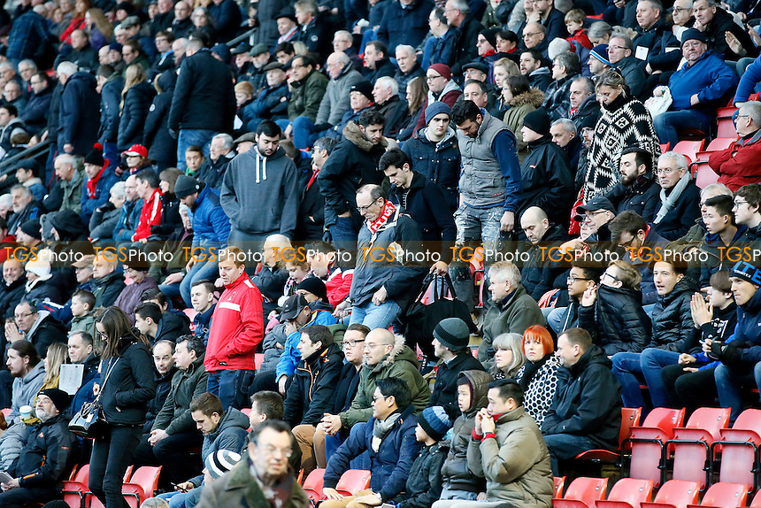 Disgruntled fans leave early after another defeat during Leyton Orient vs Carlisle United, Sky Bet EFL League 2 Football at the Matchroom Stadium on 4th February 2017