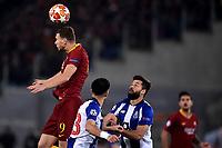 Edin Dzeko of AS Roma , Alex Telles and Felipe of Porto <br /> Roma 12-2-2019 Stadio Olimpico Football Champions League 2018/2019 round of 16 1st leg AS Roma - Porto  <br /> Foto Andrea Staccioli / Insidefoto