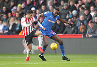 Bolton Wanderers Sammy Ameobi battles with  Sheffield United's George Baldock<br /> <br /> Photographer Mick Walker/CameraSport<br /> <br /> The EFL Sky Bet Championship - Sheffield United v Bolton Wanderers - Saturday 2nd February 2019 - Bramall Lane - Sheffield<br /> <br /> World Copyright © 2019 CameraSport. All rights reserved. 43 Linden Ave. Countesthorpe. Leicester. England. LE8 5PG - Tel: +44 (0) 116 277 4147 - admin@camerasport.com - www.camerasport.com