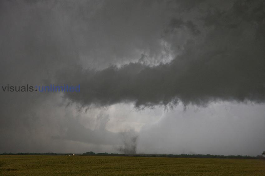 Gustnado from a storm near Ellsworth, Kansas, USA.