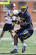 College Park, MD - April 1, 2017: Michigan Wolverines Chase Young (3) in action during game between Michigan and Maryland at  Capital One Field at Maryland Stadium in College Park, MD.  (Photo by Elliott Brown/Media Images International)