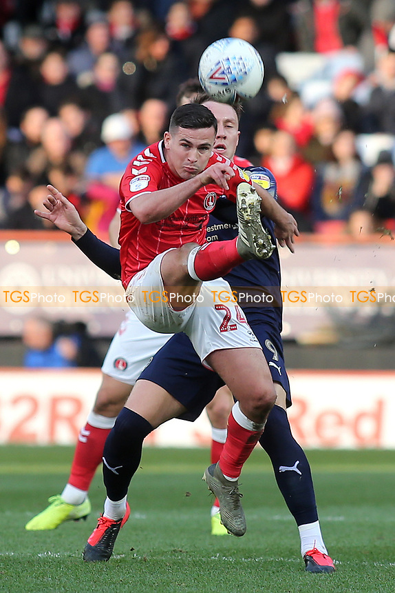 Josh Cullen of Charlton in action during Charlton Athletic vs Barnsley, Sky Bet EFL Championship Football at The Valley on 1st February 2020
