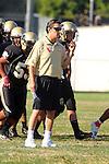 Palos Verdes, CA 10/20/11 - Coach Chris Artino in action during the Leuzinger vs Peninsula JV football game.