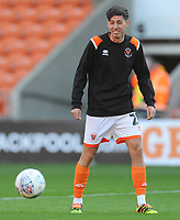 Blackpool's Jamie Devitt during the pre-match warm-up <br /> <br /> Photographer Kevin Barnes/CameraSport<br /> <br /> The Carabao Cup First Round - Blackpool v Macclesfield Town - Tuesday 13th August 2019 - Bloomfield Road - Blackpool<br />  <br /> World Copyright © 2019 CameraSport. All rights reserved. 43 Linden Ave. Countesthorpe. Leicester. England. LE8 5PG - Tel: +44 (0) 116 277 4147 - admin@camerasport.com - www.camerasport.com