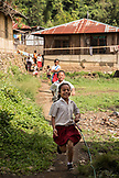 INDONESIA, Flores, young school children play in Waturaka Village