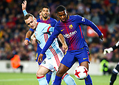 11th January 2018, Camp Nou, Barcelona, Spain; Copa del Rey football, round of 16, 2nd leg, Barcelona versus Celta Vigo; Cabral Semedo (Barca) holds off the challenge and shields the ball