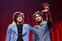Ermal Meta &amp; Fabrizio Moro (Italy)<br /> Eurovision Song Contest Grand Final dress rehearsal, Lisbon, Portugal on May 11 2018.<br /> CAP/PER<br /> &copy;PER/CapitalPictures