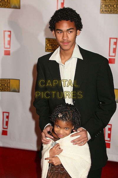 "WILLARE ""TREY"" SMITH & WILLOW SMITH.At The 12th Annual Broadcast Film Critics Choice Awards held at The Santa Monica Civic Auditorium in Santa Monica, California, LA, USA, January 12th 2007. .half length brother sister.CAP/ADM/BP.©Byron Purvis/AdMedia/Capital Pictures."