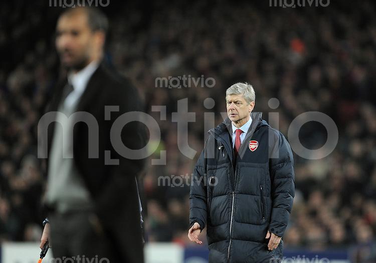 FUSSBALL   CHAMPIONS LEAGUE   SAISON 2010/2011   Achtelfinale  08.03.2011 FC Barcelona - Arsenal London Trainer Arsene Wenger (Arsenal)