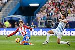Atletico de Madrid's player Antoine Griezmann and Malaga CF Ignacio Camacho during a match of La Liga Santander at Vicente Calderon Stadium in Madrid. October 29, Spain. 2016. (ALTERPHOTOS/BorjaB.Hojas)
