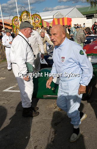 Goodwood Festival of Speed. Goodwood Sussex. Sterling Moss.