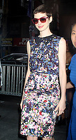 July 12, 2012 Anne Hathaway arrives at NBC's Today Show in New York City. &copy; RW/MediaPunch Inc. *NORTEPHOTO*<br />