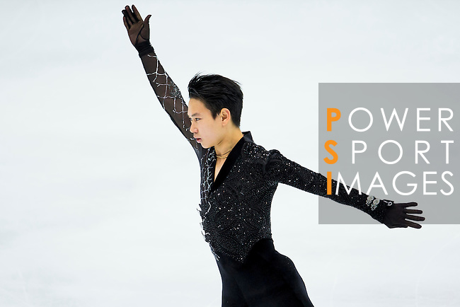 TAIPEI, TAIWAN - JANUARY 22:  Denis Ten of Kazakhstan competes in the Men Short Program event during the Four Continents Figure Skating Championships on January 22, 2014 in Taipei, Taiwan.  Photo by Victor Fraile / Power Sport Images *** Local Caption *** Denis Ten