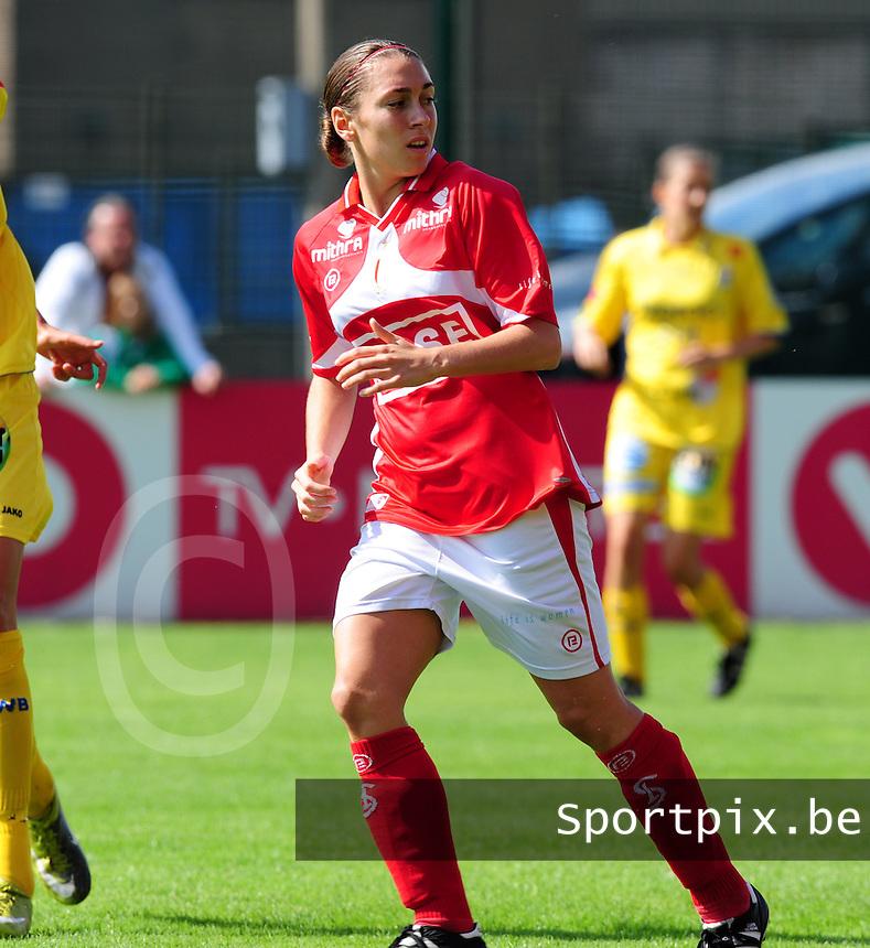 Supercup seizoen 2011 - 2012 ; Kampioen Standard Femina tegen Bekerwinnaar Waasland Beveren Sinaai Girls : Audrey Demoustier.foto DAVID CATRY / Vrouwenteam.be