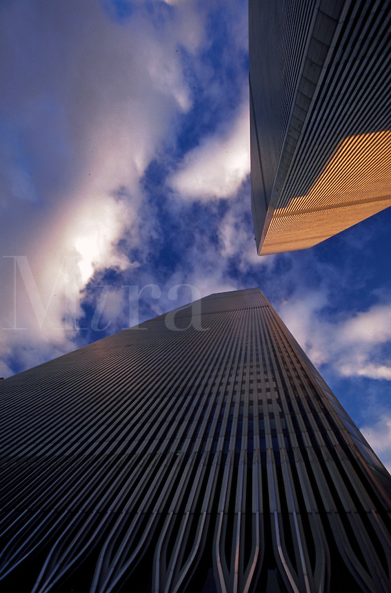 World Trade Center Towers at sunset, New York City