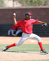 Amalio Diaz, Los Angeles Angels 2010 minor league spring training..Photo by:  Bill Mitchell/Four Seam Images.