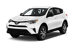 2017 Toyota RAV4 LE 5 Door SUV angular front stock photos of front three quarter view