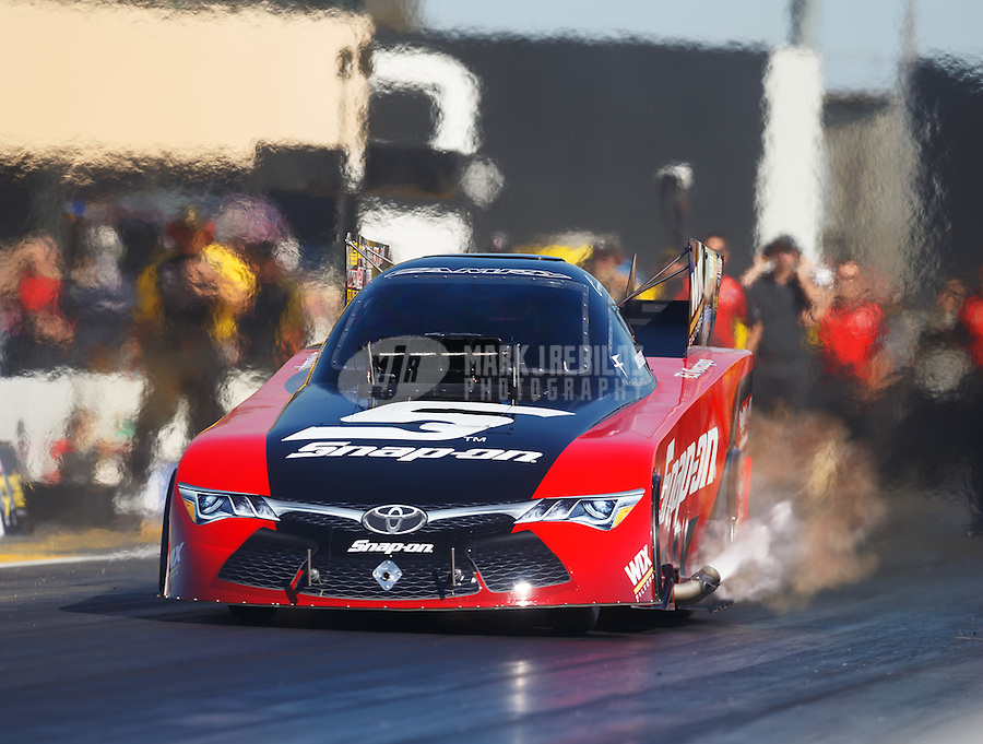 Jul 29, 2016; Sonoma, CA, USA; NHRA funny car driver Cruz Pedregon during qualifying for the Sonoma Nationals at Sonoma Raceway. Mandatory Credit: Mark J. Rebilas-USA TODAY Sports